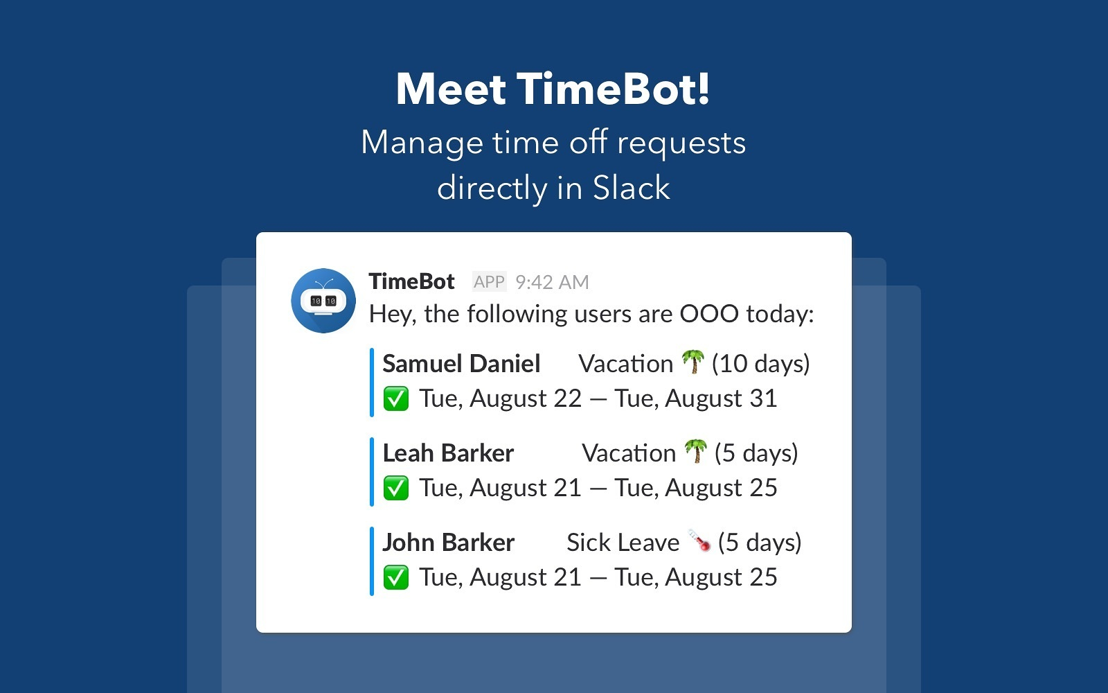 BirthdayBot for Slack - Never miss your teammates' birthdays